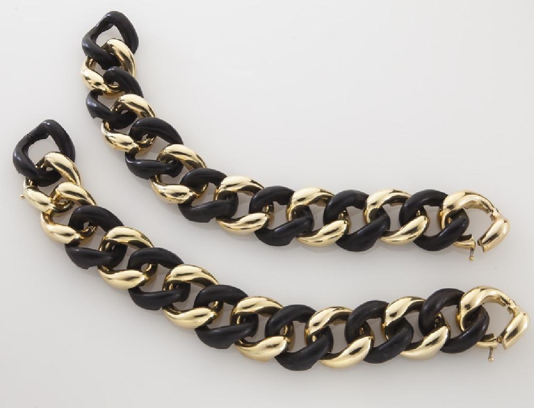 18K gold and ebony necklace/bracelet conversion - 2