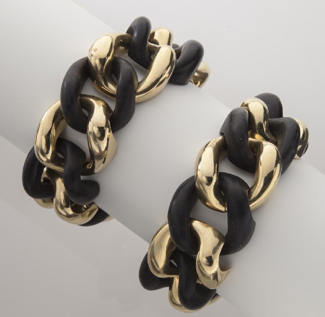 18K gold and ebony necklace/bracelet conversion - 3