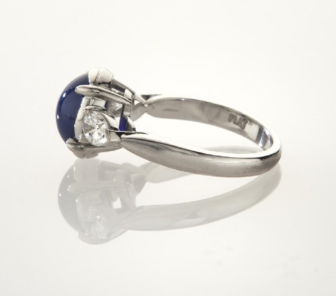 Platinum, diamond and star sapphire ring, - 3