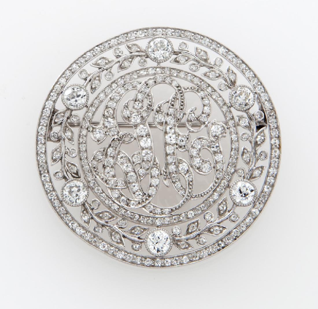 Victorian/Edwardian platinum and diamond brooch
