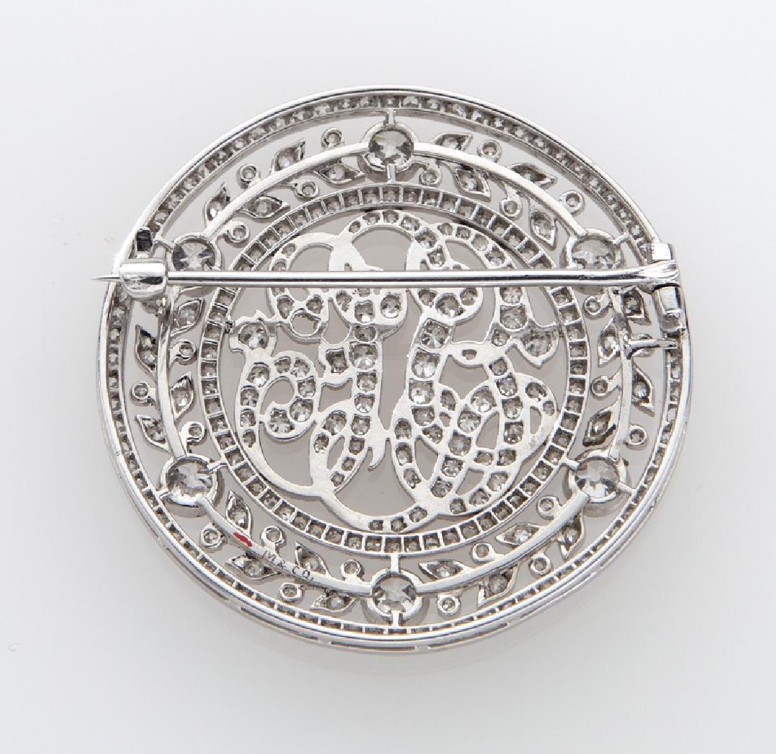 Victorian/Edwardian platinum and diamond brooch - 2
