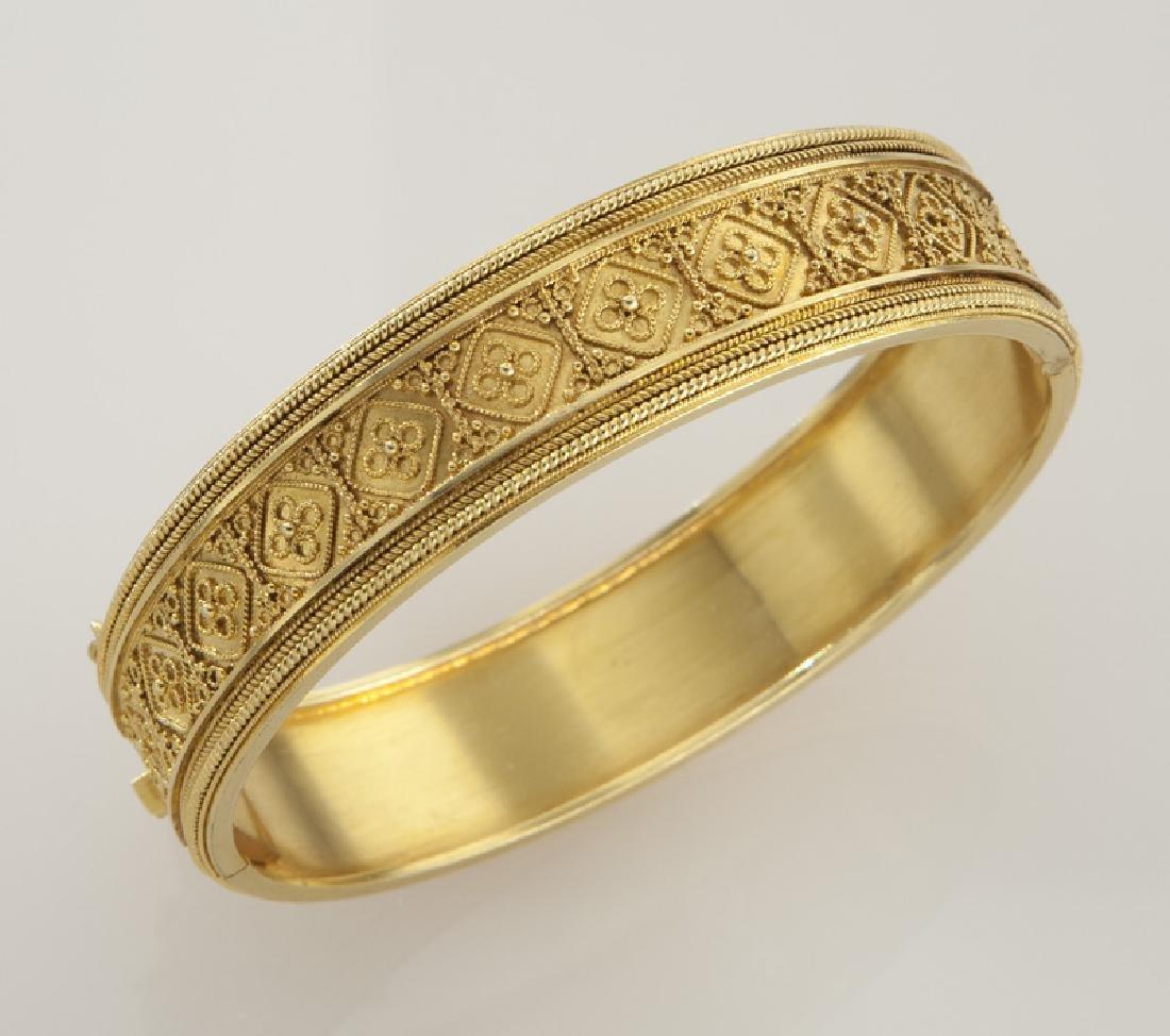 Victorian/Edwardian Etruscan Revival 15K gold