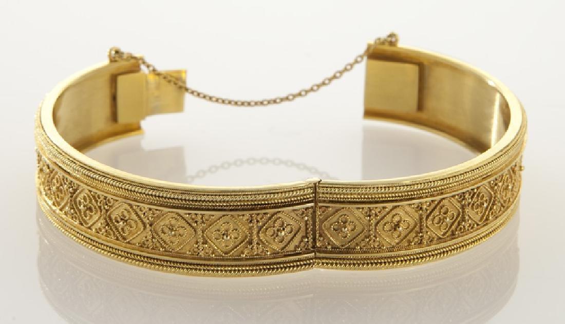 Victorian/Edwardian Etruscan Revival 15K gold - 2