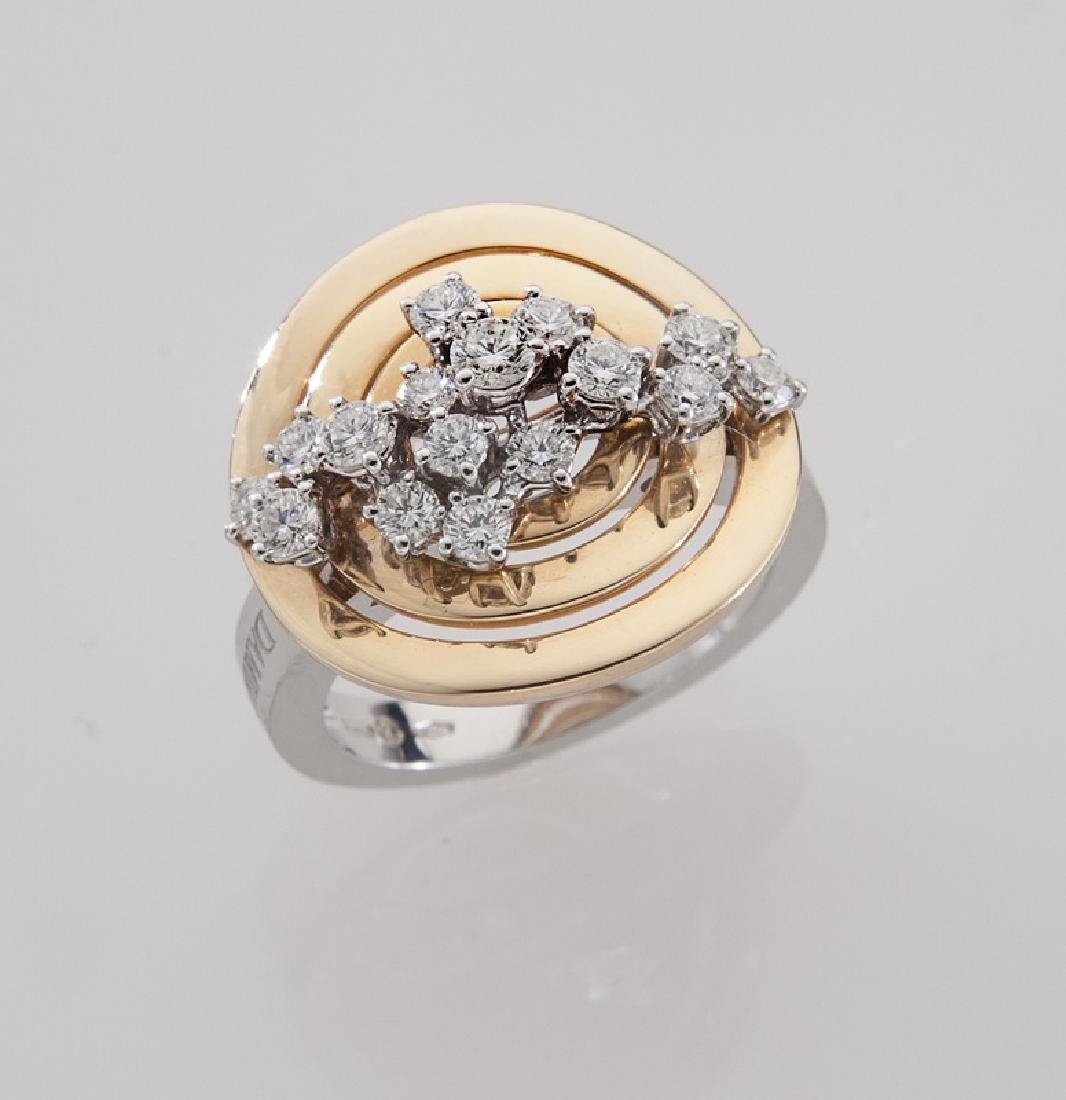Damiani 18K gold and diamond ring.