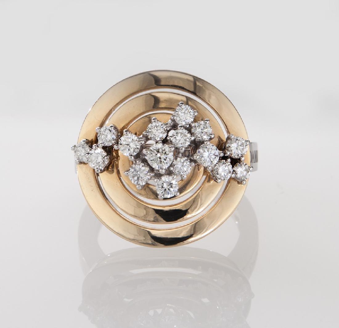 Damiani 18K gold and diamond ring. - 2
