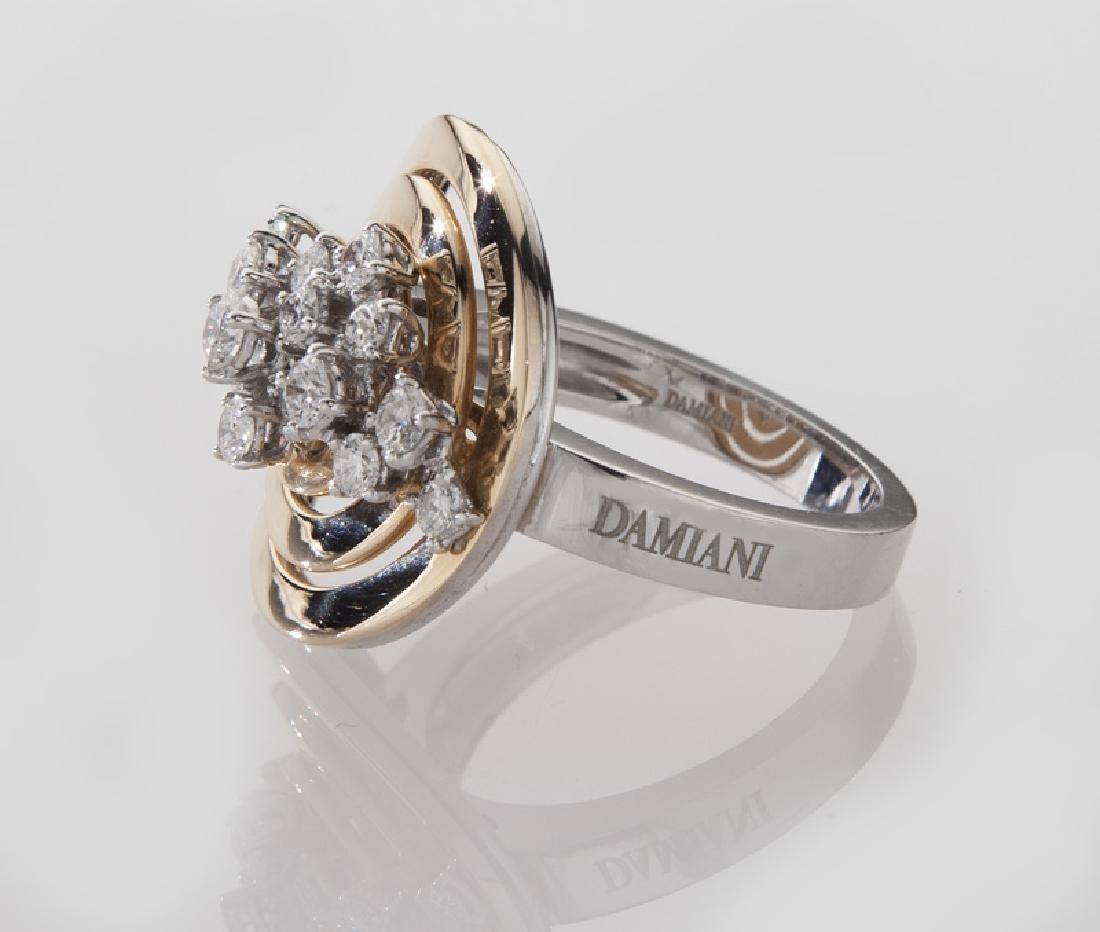 Damiani 18K gold and diamond ring. - 3