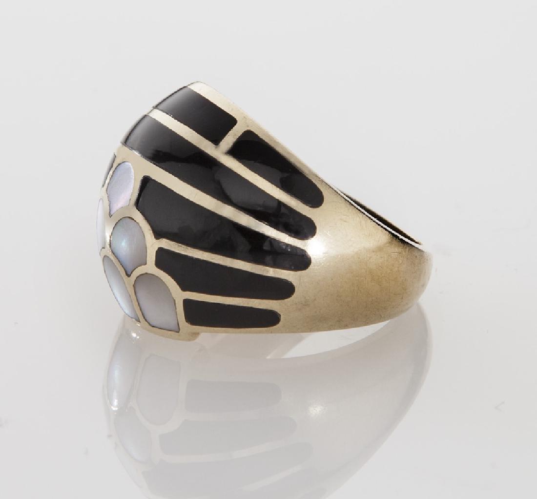 Kurt Wayne 14K gold and enamel ring. - 3
