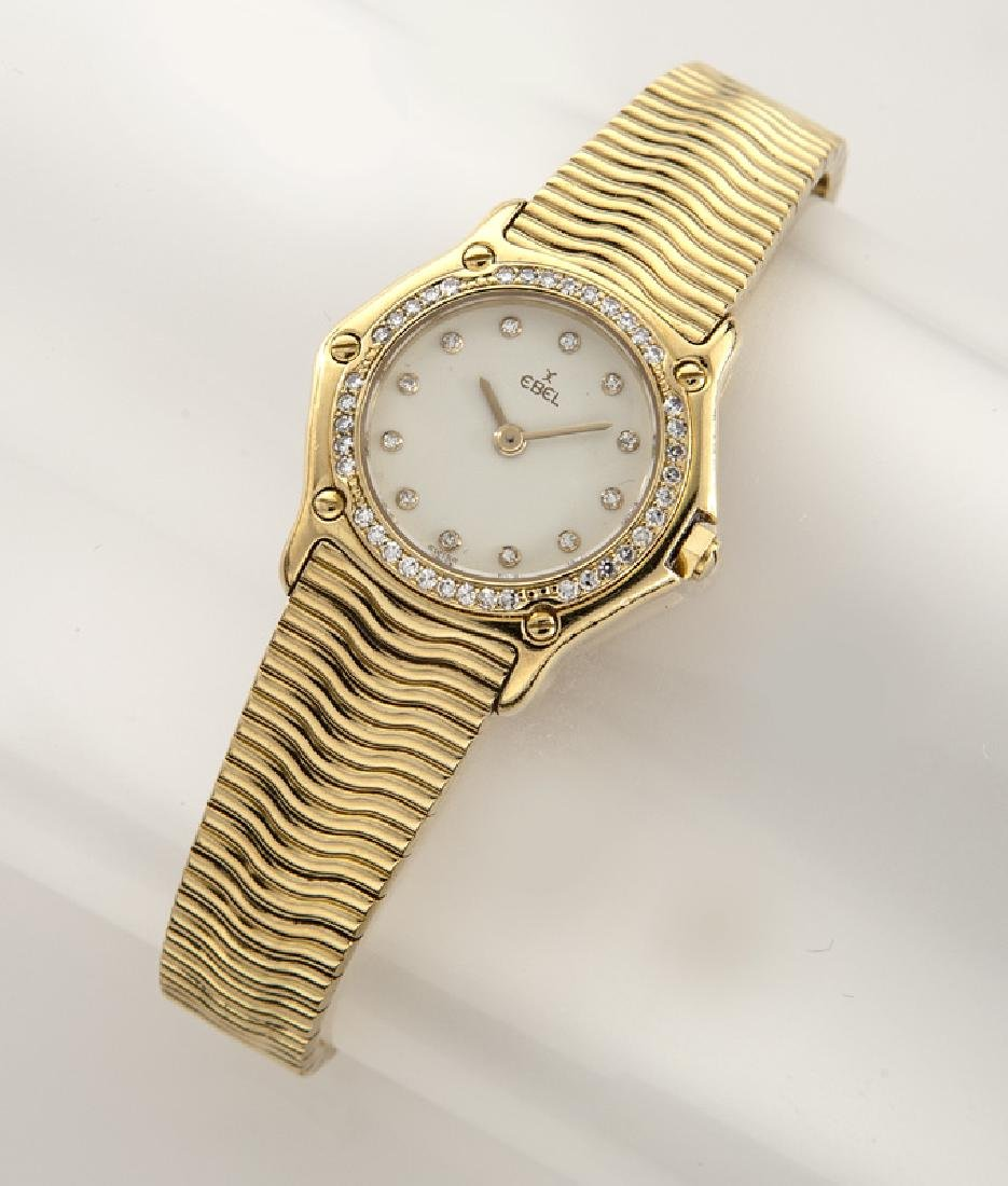 Ebel Classic Wave 18K gold & diamond wristwatch
