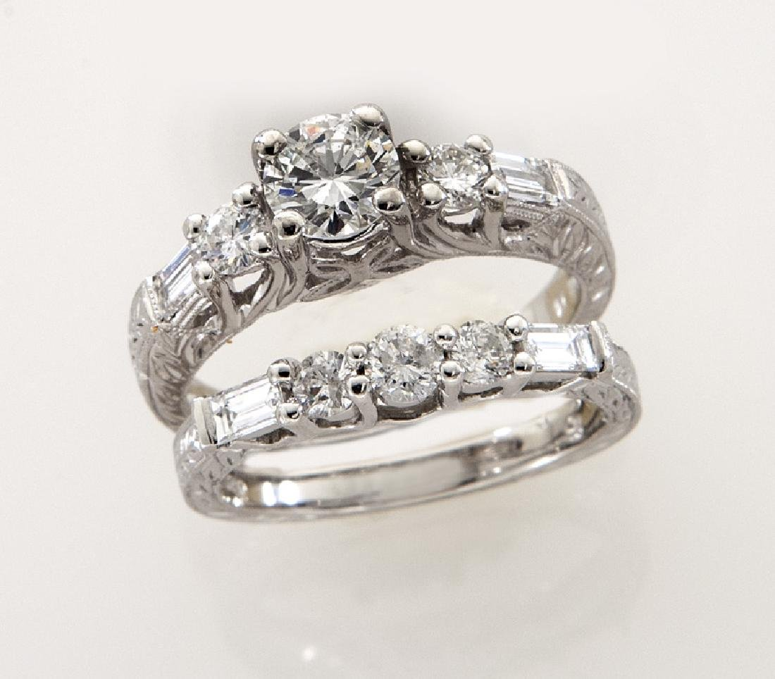 Platinum and diamond (EGL) engagement ring