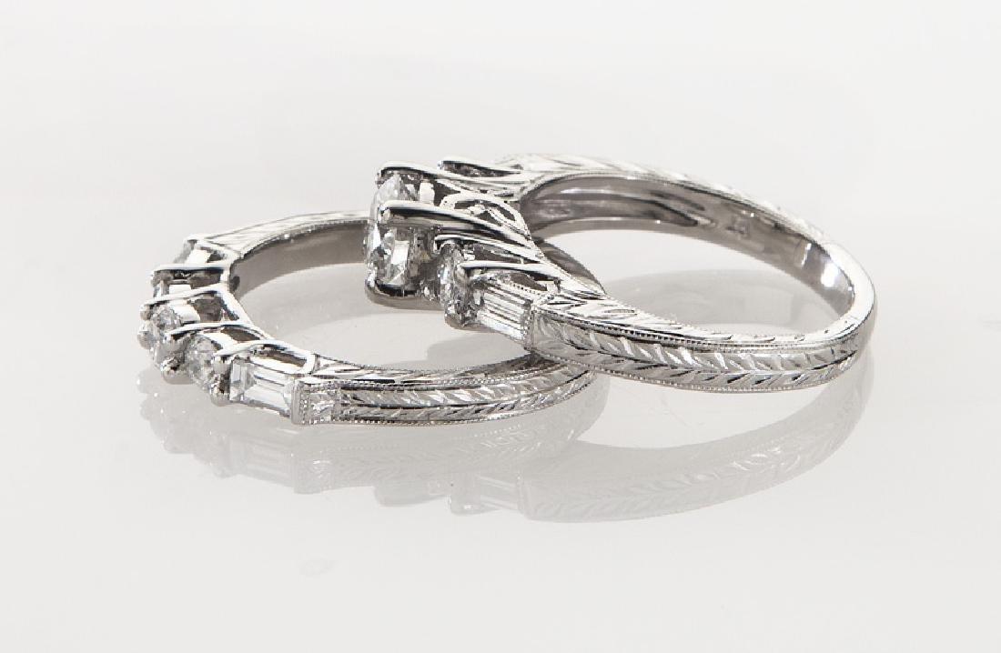 Platinum and diamond (EGL) engagement ring - 3