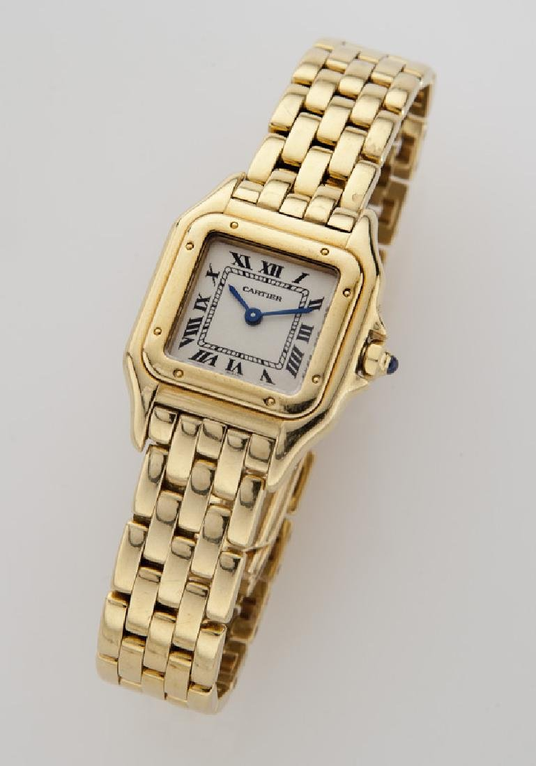 Cartier 18K gold Panthere bracelet wristwatch,