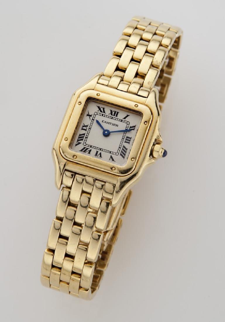 Cartier 18K gold Panthere bracelet wristwatch,
