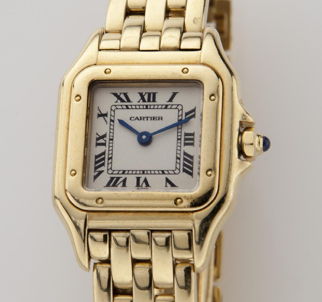 Cartier 18K gold Panthere bracelet wristwatch, - 2