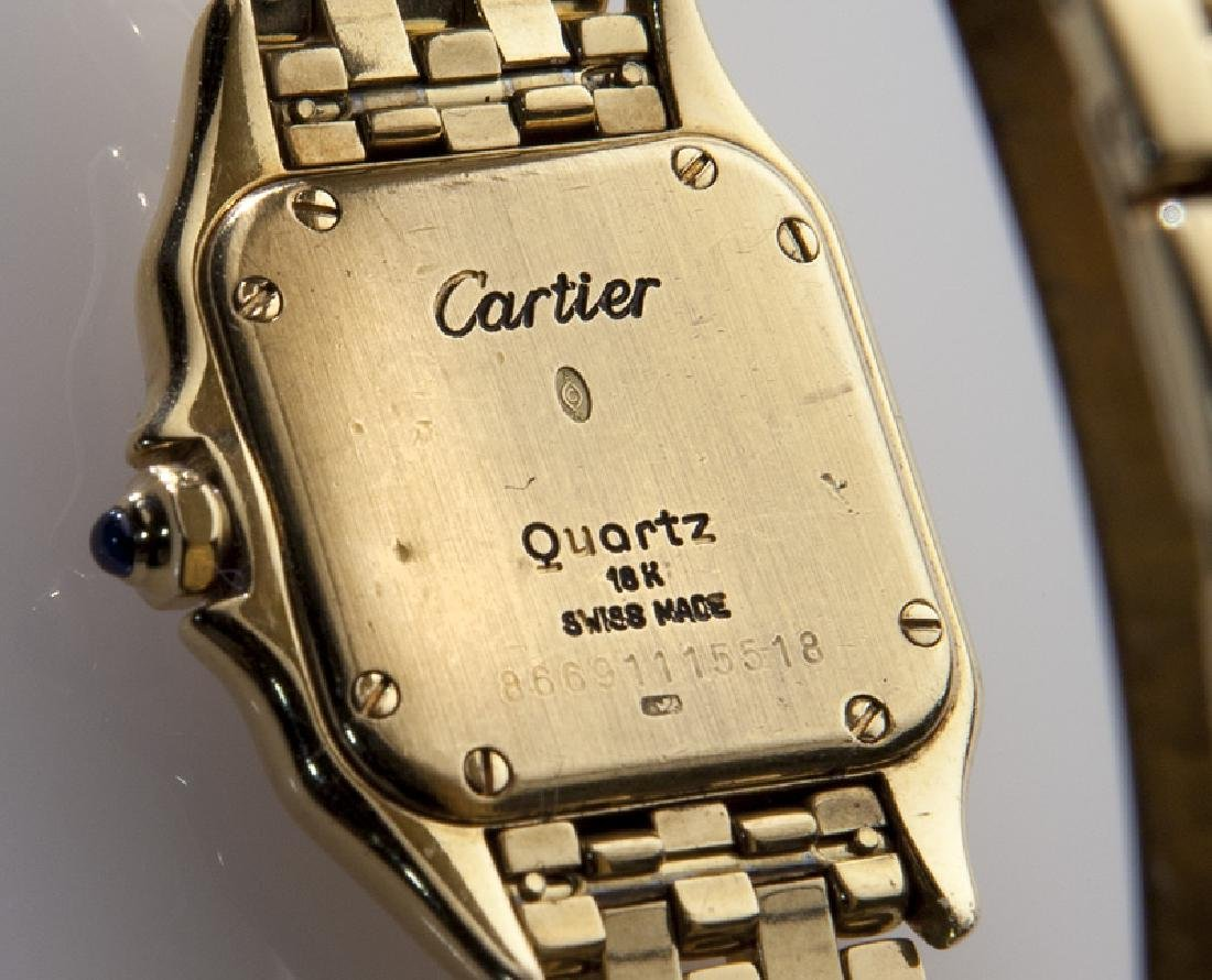 Cartier 18K gold Panthere bracelet wristwatch, - 3