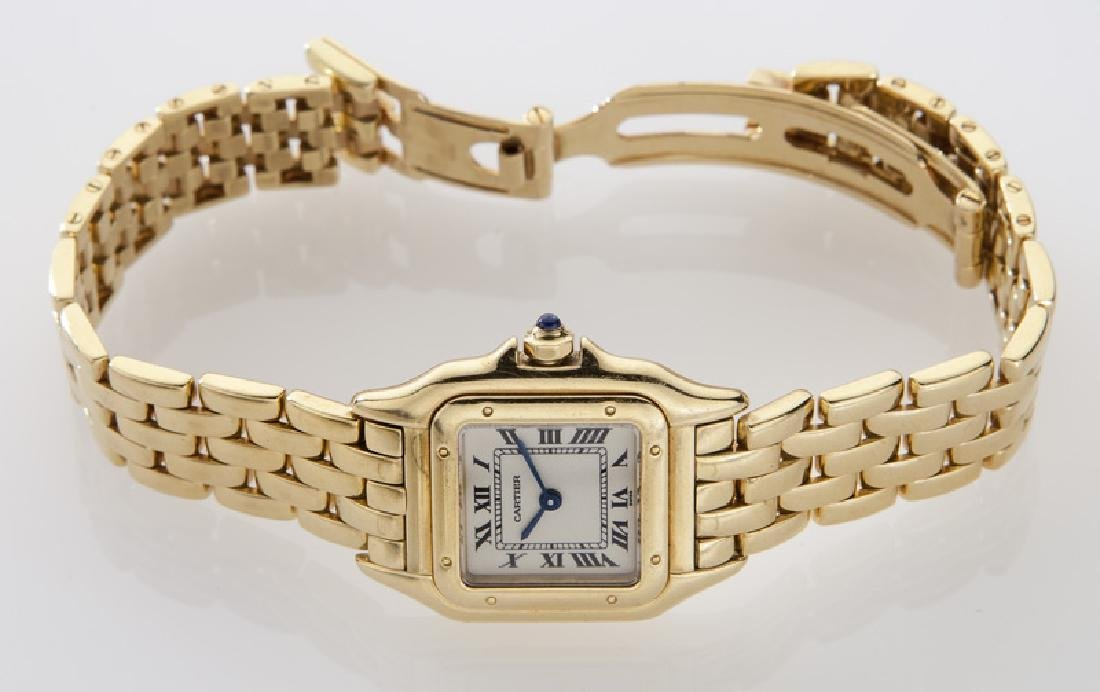 Cartier 18K gold Panthere bracelet wristwatch, - 4