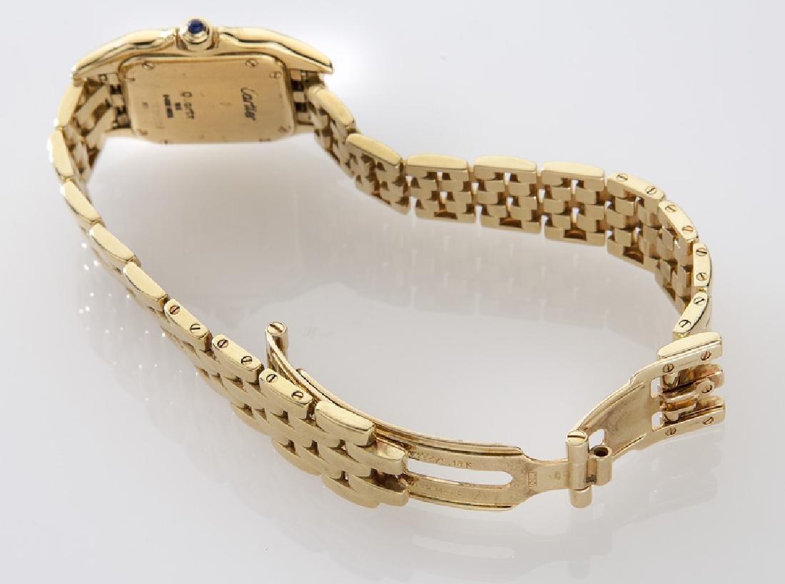 Cartier 18K gold Panthere bracelet wristwatch, - 5