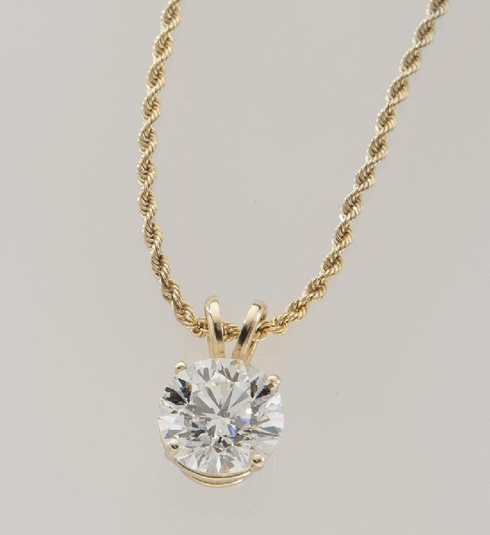 14K & diamond pendant featuring a 1.98 ct. (GIA)