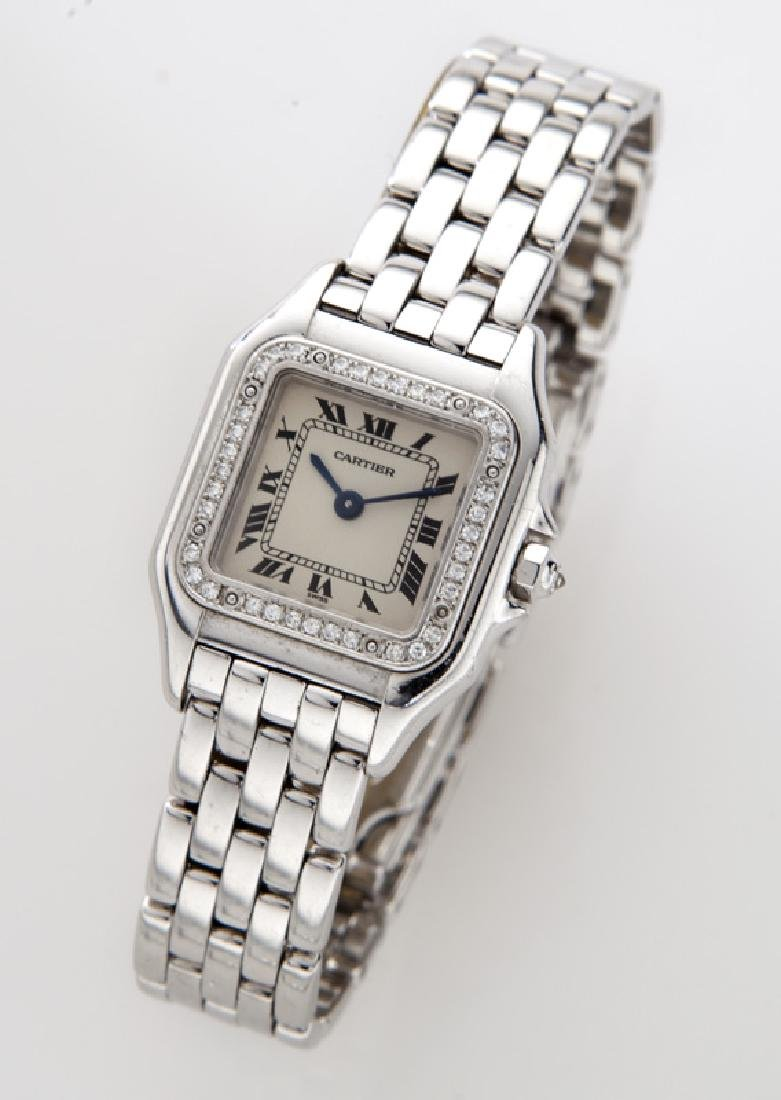 Cartier 18K gold and diamond Panthere wristwatch