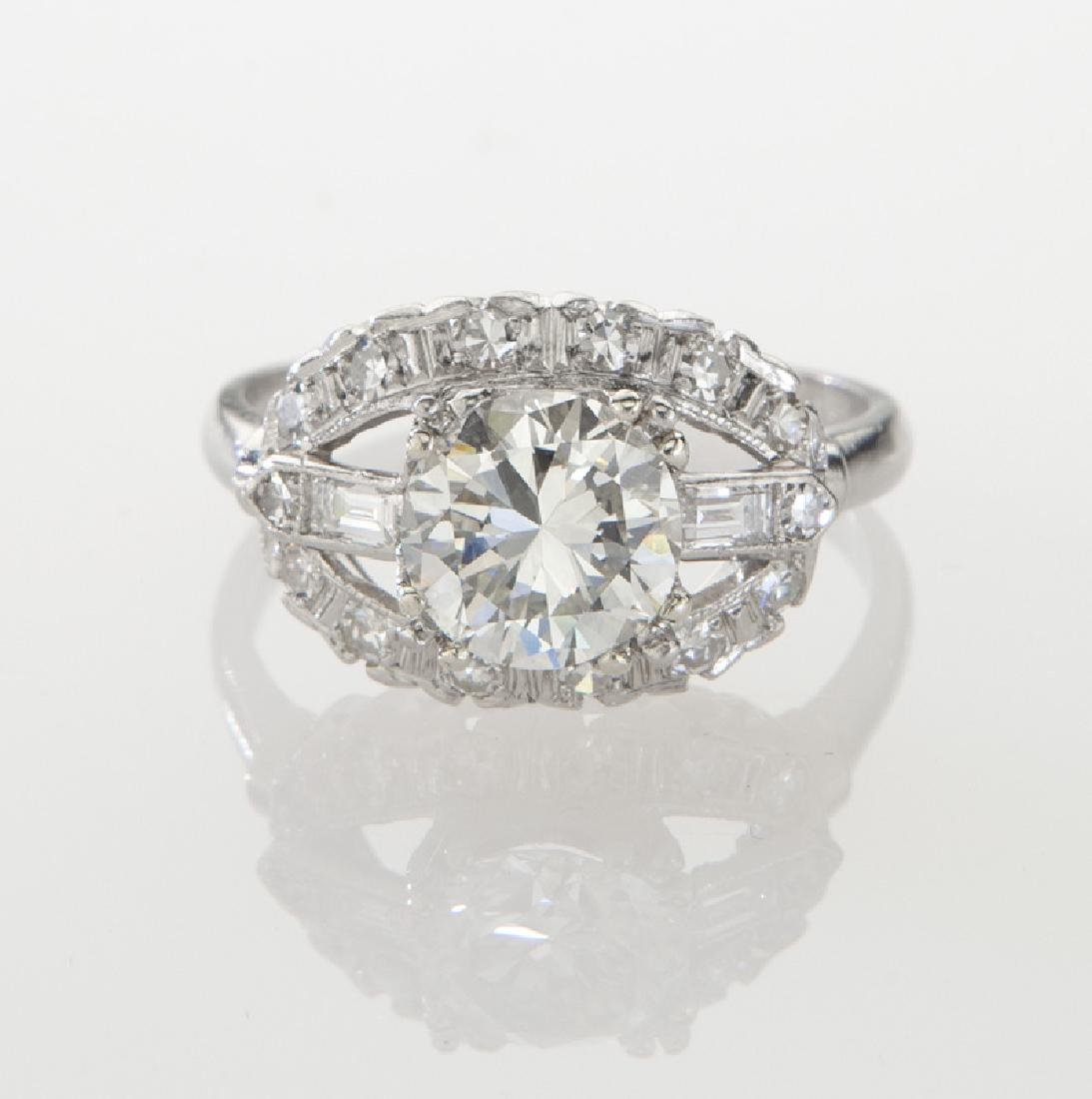 Platinum and 1.82 ct. (GIA) diamond ring, - 2