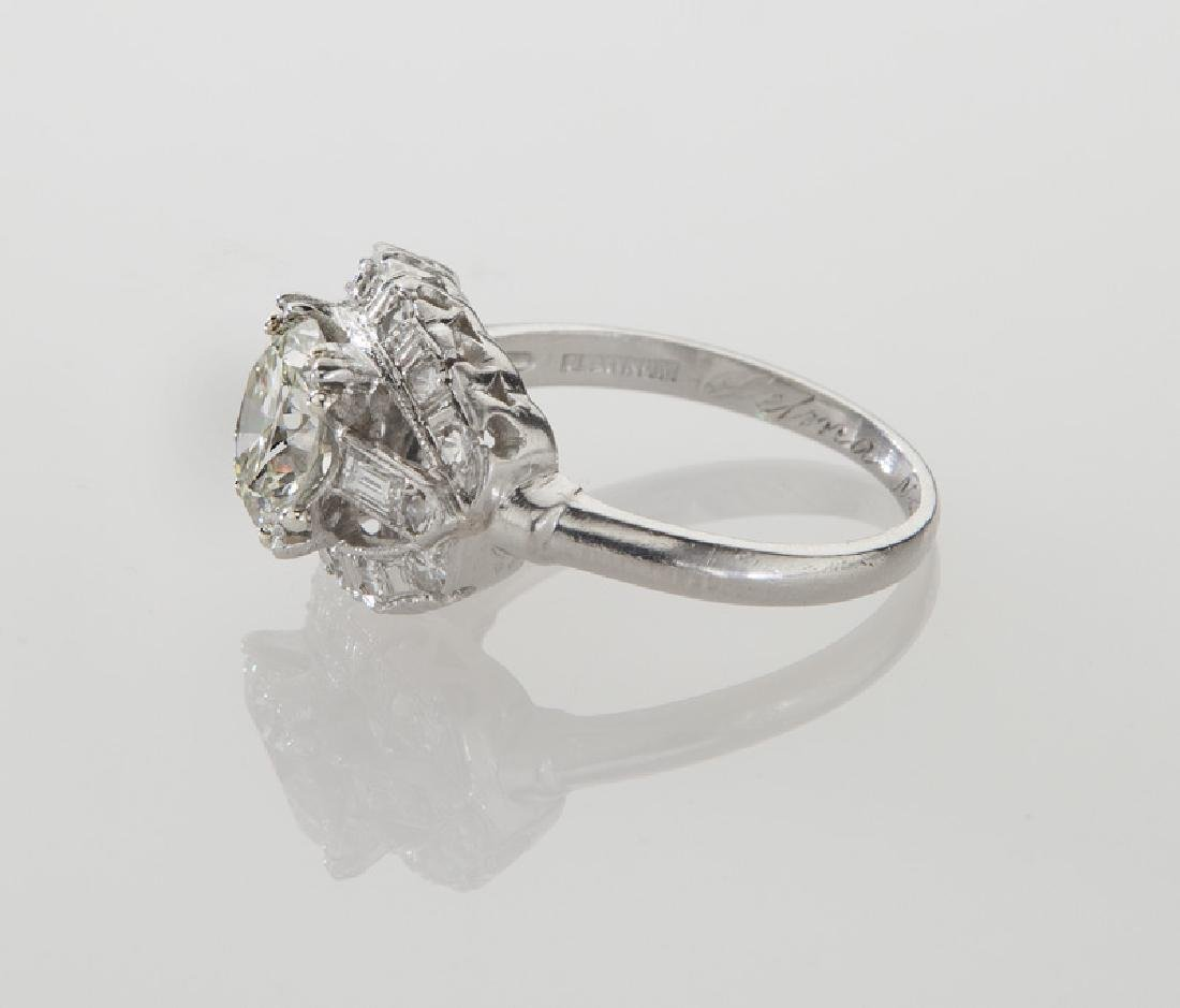 Platinum and 1.82 ct. (GIA) diamond ring, - 3