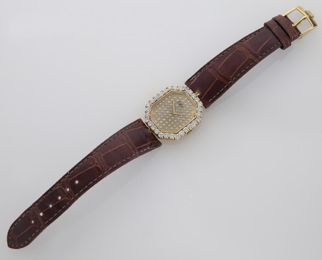 DeLaneau 18K gold and diamond wristwatch, - 3
