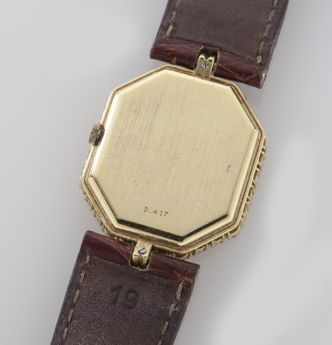 DeLaneau 18K gold and diamond wristwatch, - 4