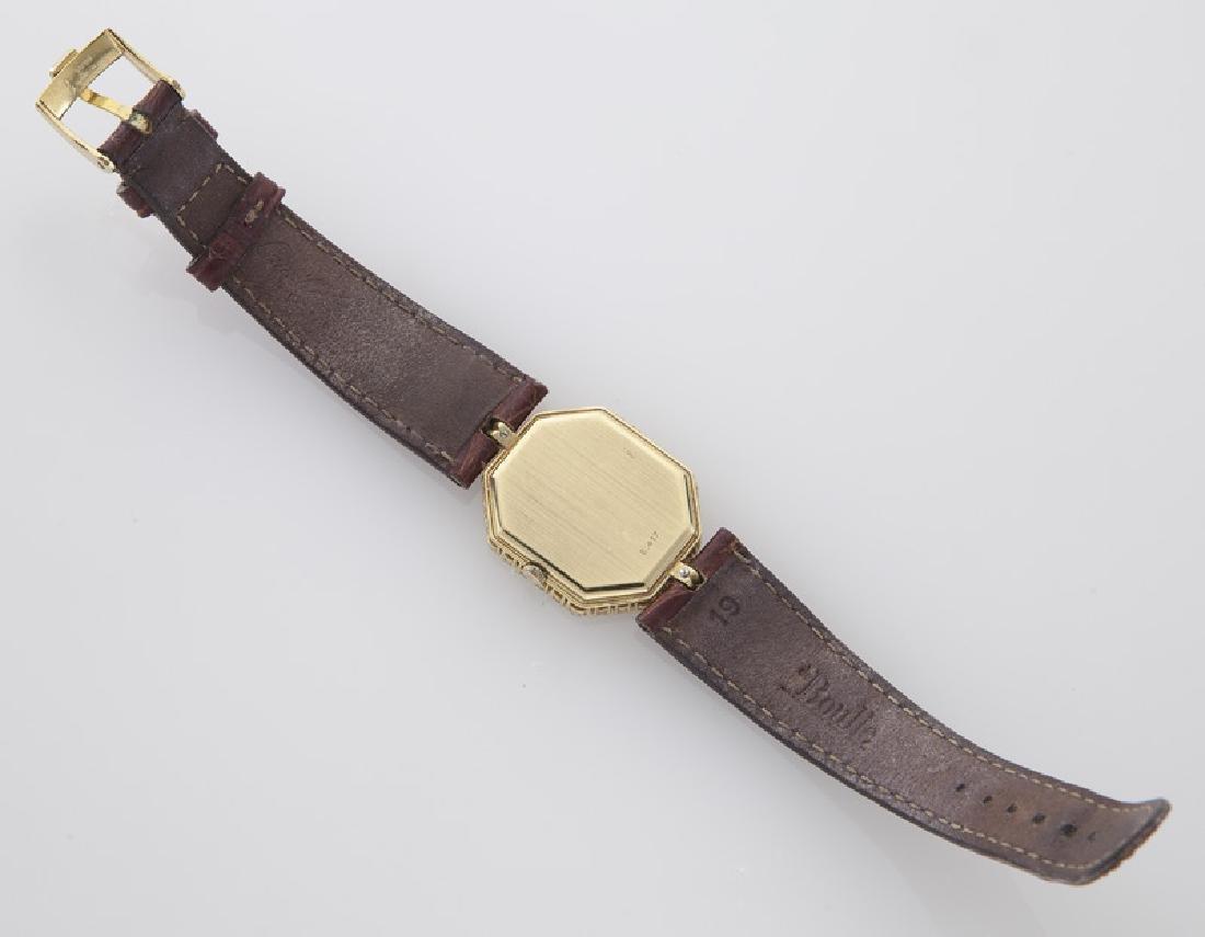 DeLaneau 18K gold and diamond wristwatch, - 5
