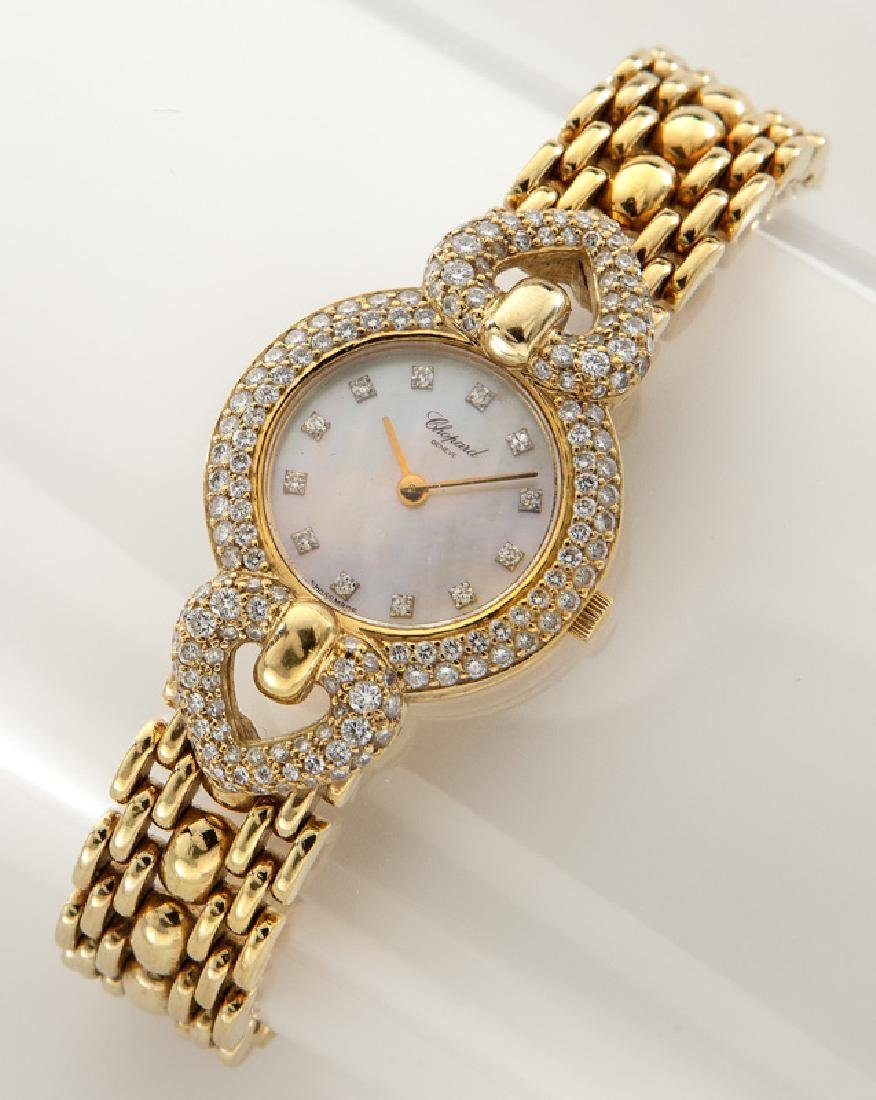 Chopard 18K gold and diamond watch