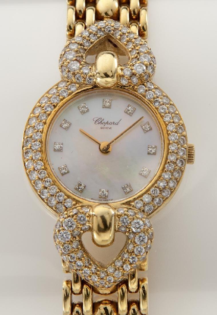 Chopard 18K gold and diamond watch - 2