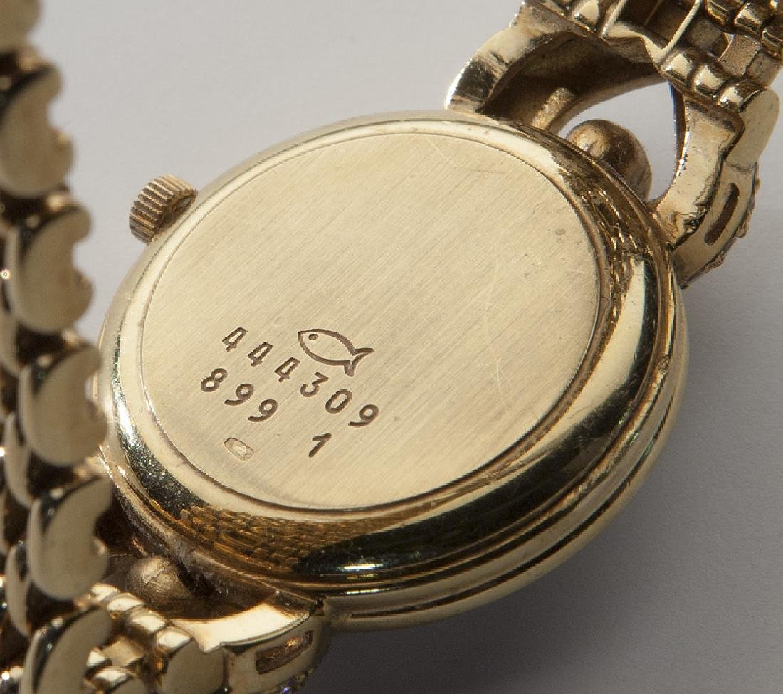 Chopard 18K gold and diamond watch - 4
