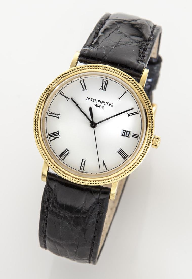 Patek Philippe 18K gold quartz wristwatch,