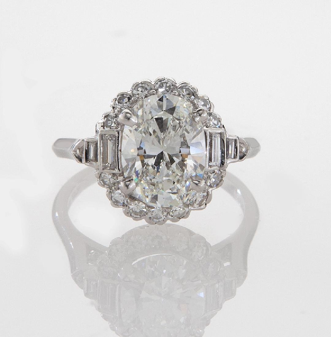 Platinum and 2.31 ct. (GIA) diamond ring - 2