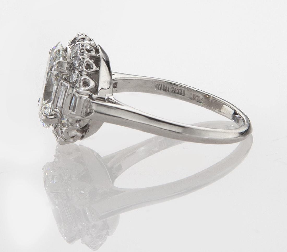 Platinum and 2.31 ct. (GIA) diamond ring - 3