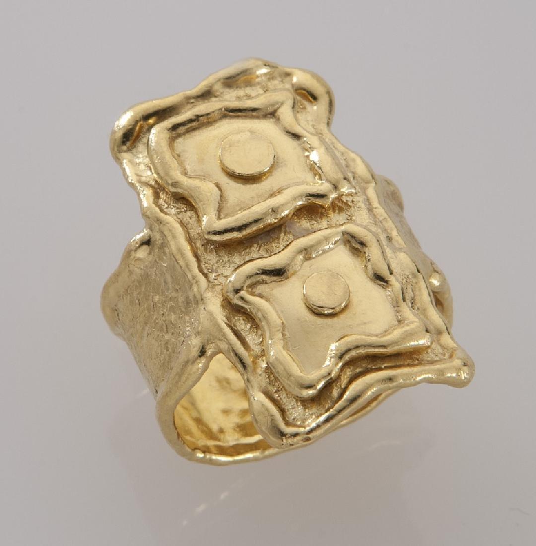 Jean Mahie 22K gold ring.