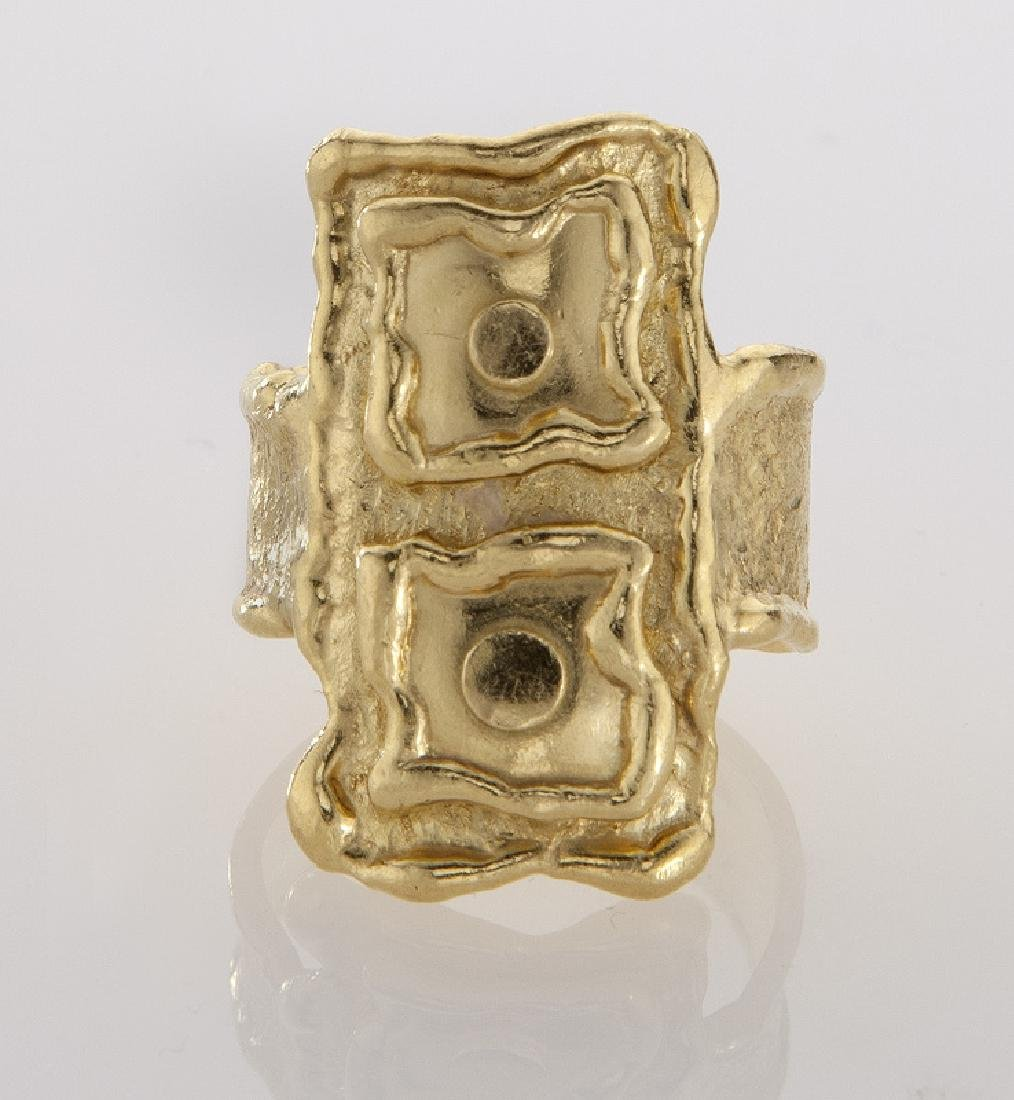 Jean Mahie 22K gold ring. - 2