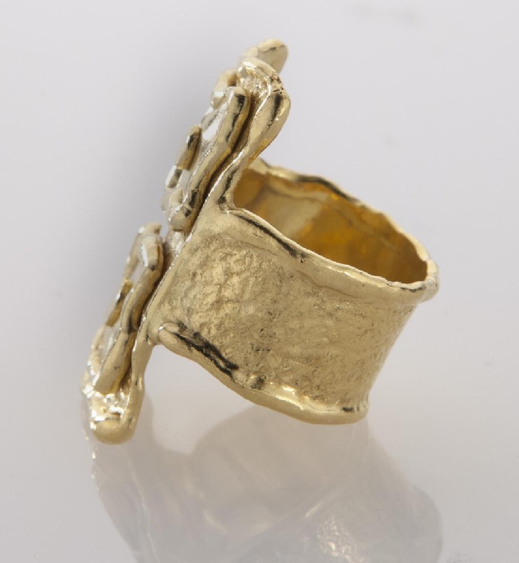 Jean Mahie 22K gold ring. - 3