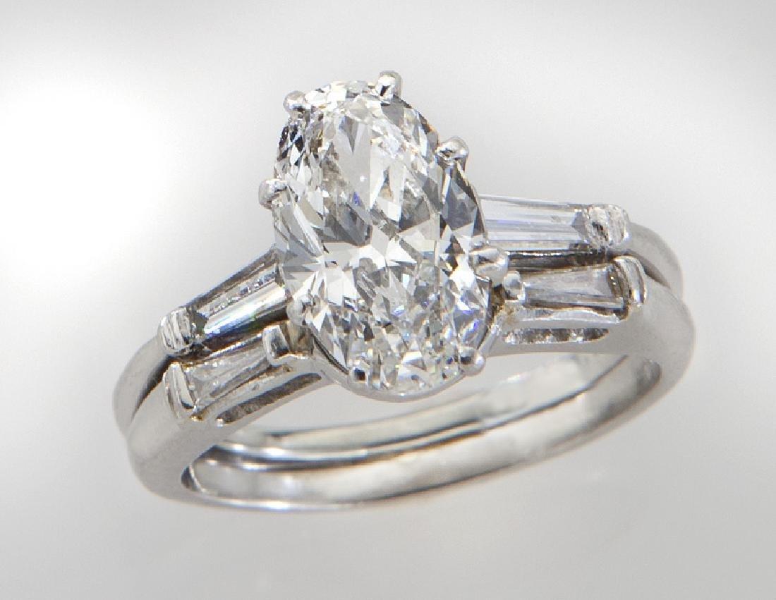 Fred Joaillier platinum & 1.77 ct. (GIA) diamond