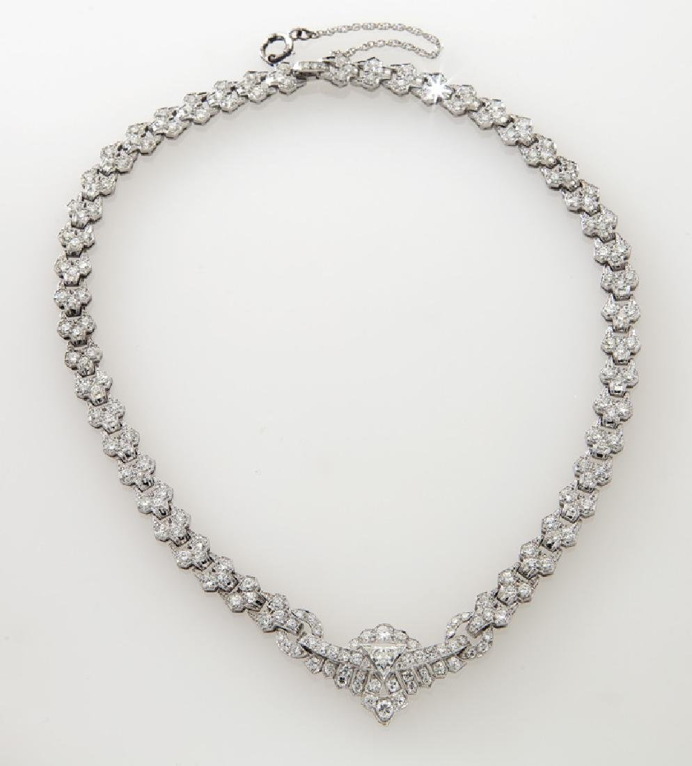 Art Deco platinum and diamond necklace