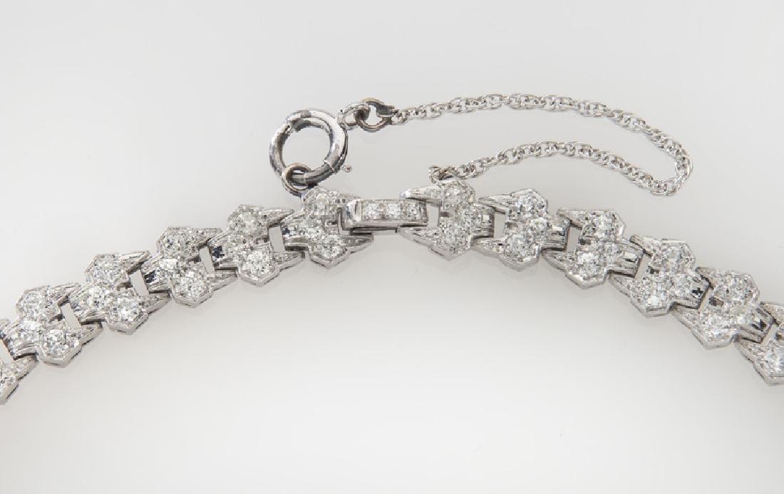 Art Deco platinum and diamond necklace - 3