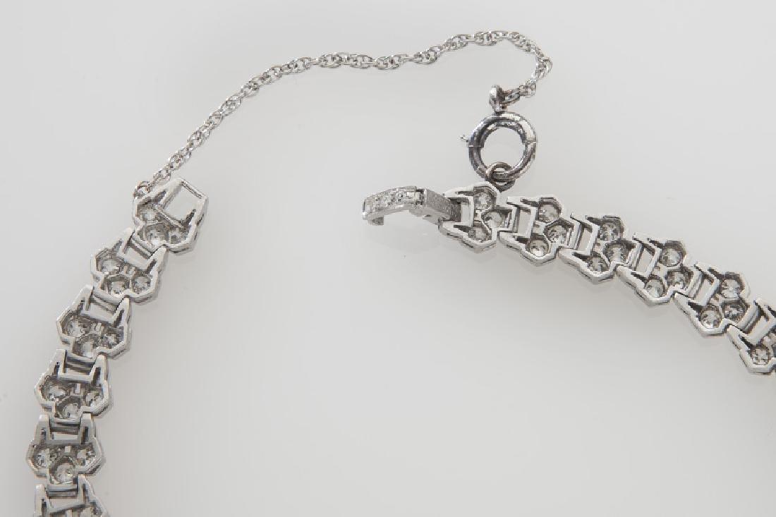 Art Deco platinum and diamond necklace - 5
