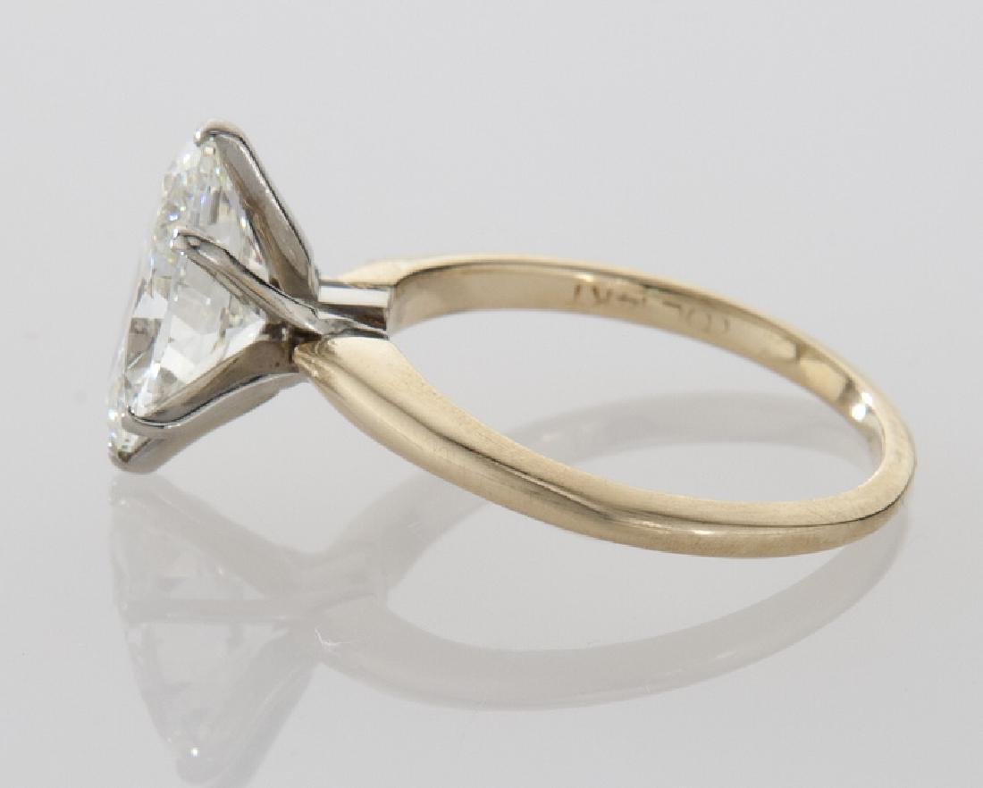 14K gold and 2.35 ct. (GIA) diamond ring, - 3