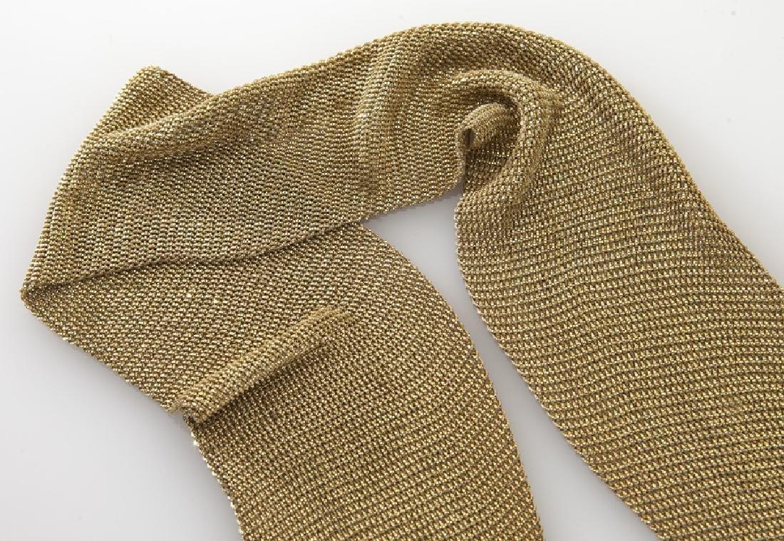 Yuri Ichihashi 18K gold mesh necklace. - 2