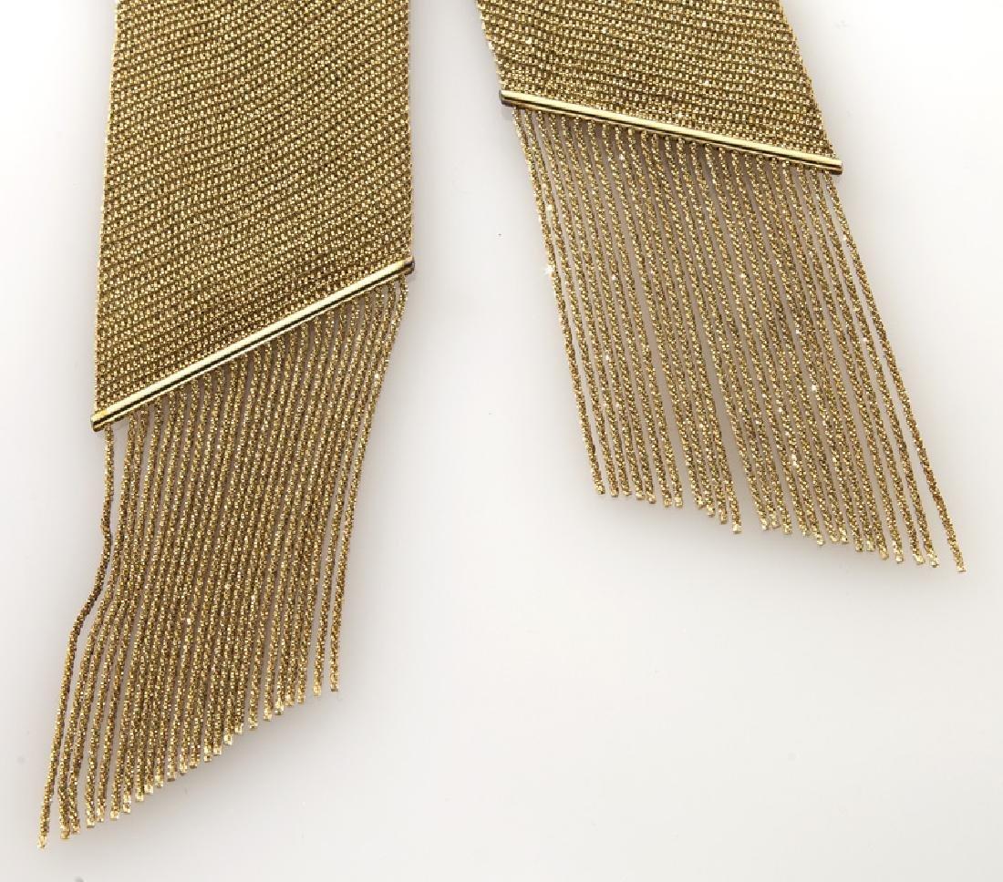 Yuri Ichihashi 18K gold mesh necklace. - 3