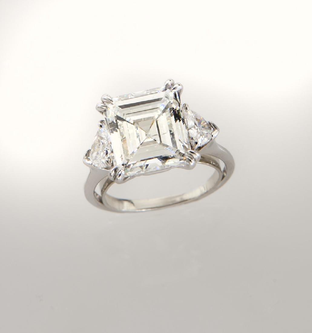 Harry Winston plat. & 5.05 ct. (GIA) diamond ring