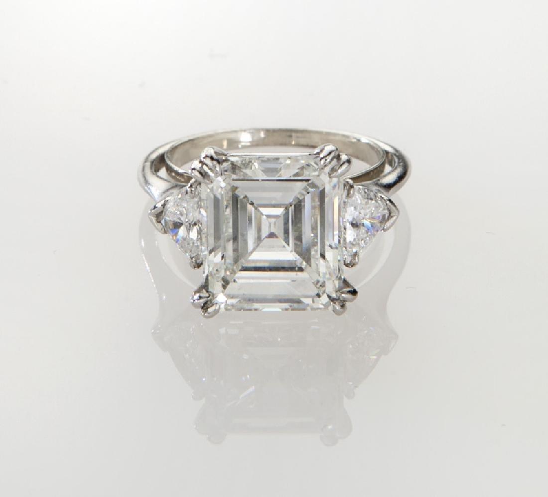 Harry Winston plat. & 5.05 ct. (GIA) diamond ring - 2