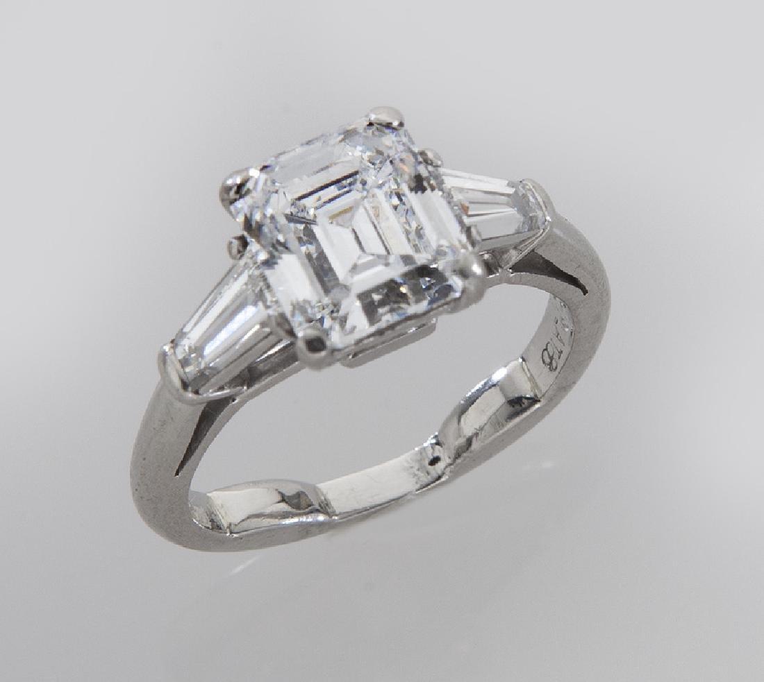 Platinum and 2.52 ct. (GIA) diamond ring