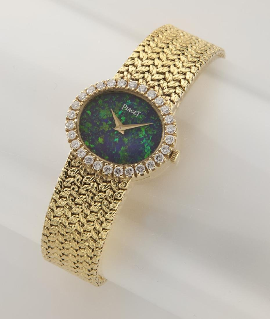 Piaget 18K gold, diamond and opal wristwatch