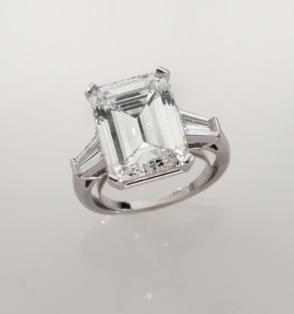 Platinum and 9.20 ct. (GIA) diamond ring
