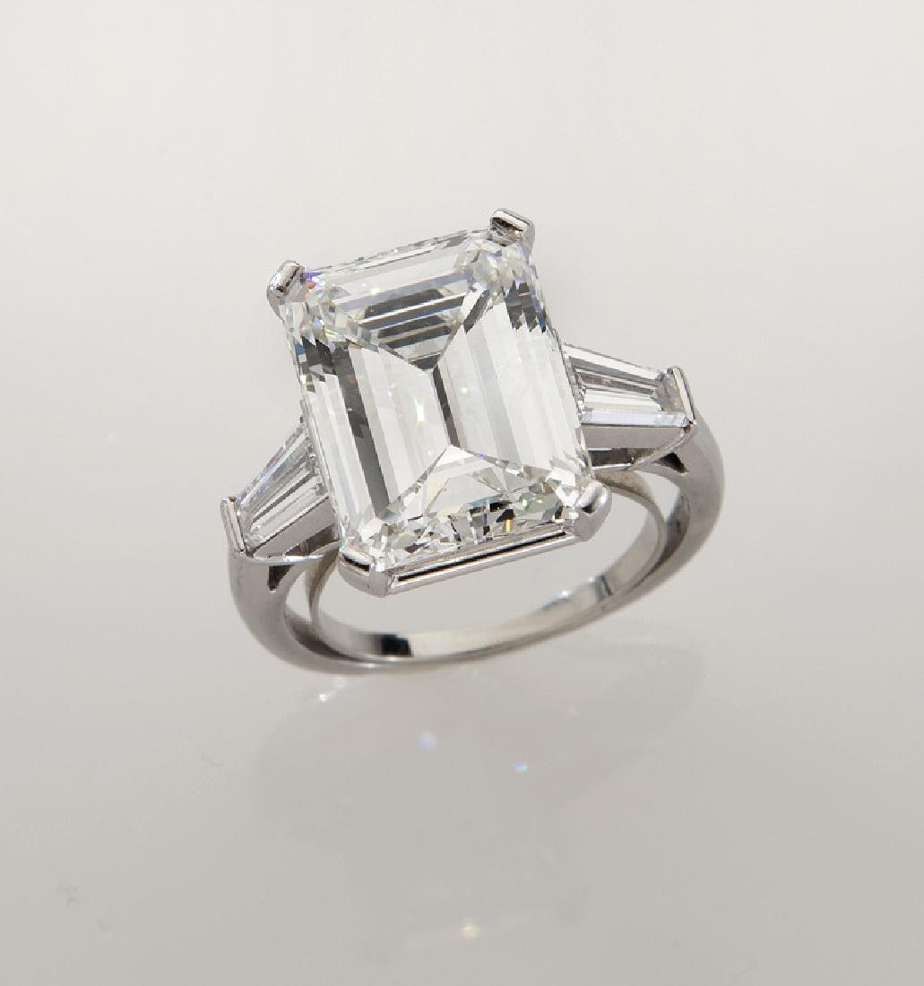 Platinum and 9.20 ct. (GIA) diamond ring
