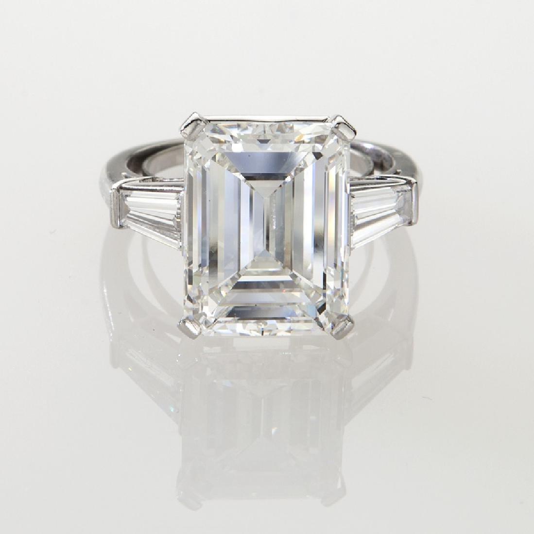 Platinum and 9.20 ct. (GIA) diamond ring - 2